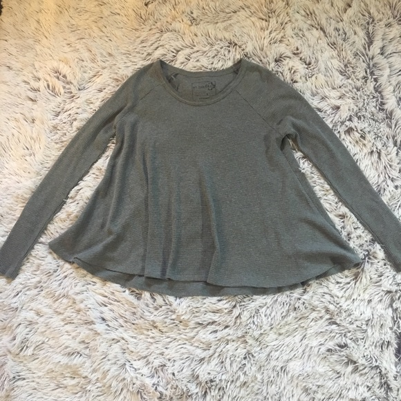 e61e9d2c1c Free People Tops - Free People We the Free Gray Waffle Knit Swing Top